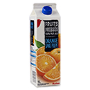 Auchan pur jus d'orange sans pulpe 1l
