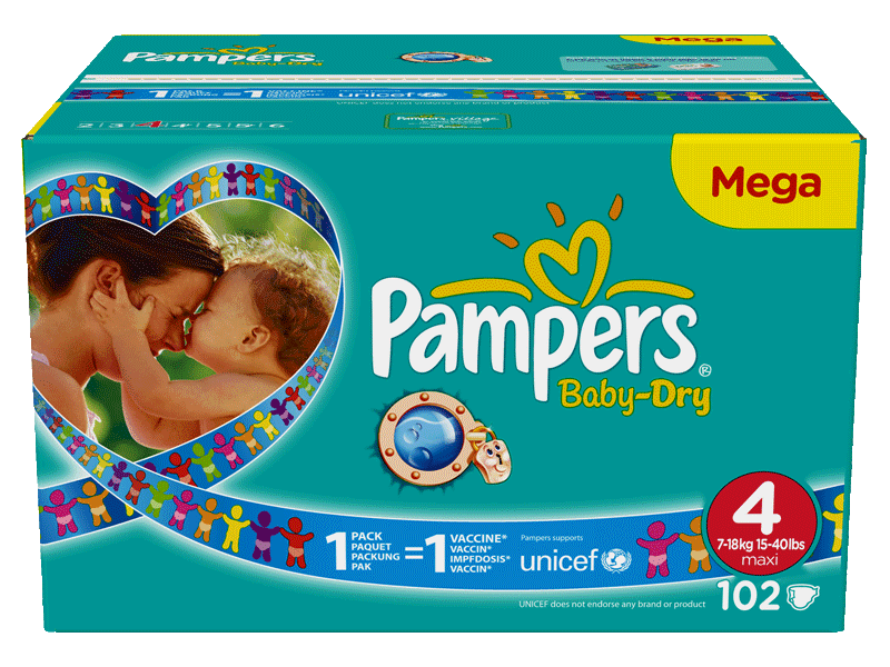Pampers baby dry mega change x102 taille 4