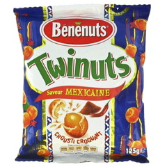 Cacahuetes Twinuts Benenuts Enrobees recette mexicaine 125g