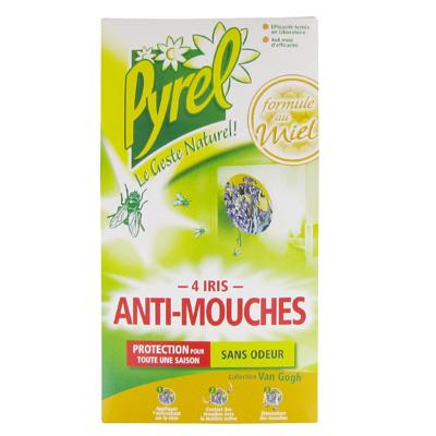 Pyrel anti mouches iris x4 tous les produits insecticides prixing - Produit pour tuer les mouches ...