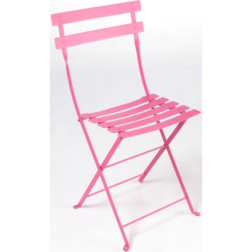 chaise bistro metal fuchsia tous les produits jardin prixing. Black Bedroom Furniture Sets. Home Design Ideas