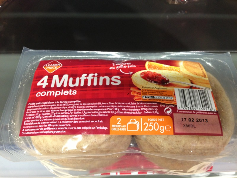 Muffins complets x4 250g