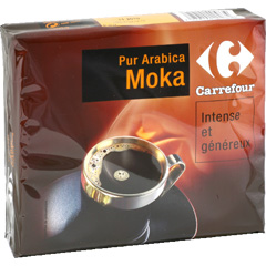 Cafe moulu pur arabica moka