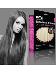 BiYa Hair Elements Perruque 3/4 Cheveux longs, raides et dégradés