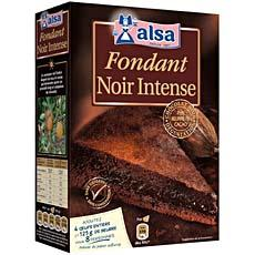 Preparation pour fondant au chocolat noir intense ALSA, 390g