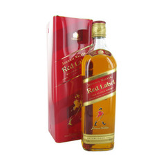 Whisky red laber johnnie walker 40% et sa bouteille metal whisky blend -12ans