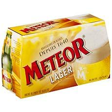 Meteor lager biere blonde de qualite 5°vol 10x25cl