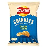 Walkers Crinkles Crisps - Cheddar & Onion (150g)