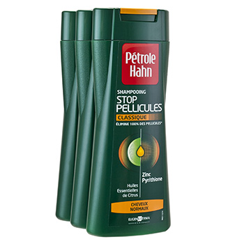 Shampooing Petrole Hahn Stop pellicules 3x250ml