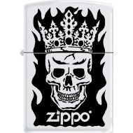 Zippo 50811292 Briquet Skull and Crown 3,5 x 1 x 5,5 cm
