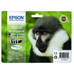 PACK 4 CARTOUCHES ENCRE EPSON TO895 BABOUIN