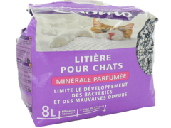 Litieres pour chats minerale parfumee