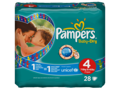 Pampers baby dry 7/18kg change x28 taille 4