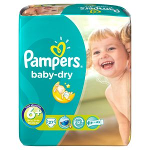 Couches Baby-dry 17 + kg Pampers