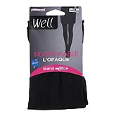 Collant opaque l'indispensable WELL, noir, taille 1/2