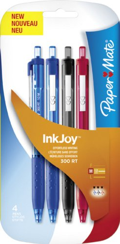 3 Stylos retractables InkJoy 500RT PAPER MATE , coloris assortis