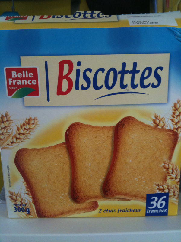 Biscottes normales 36 tr. Pt 300g