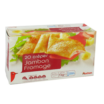 Crepes Jambon Fromage - 20 pieces