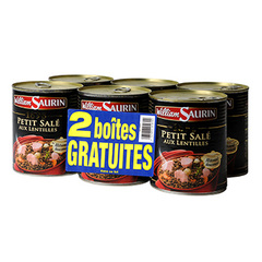 Petit sale William Saurin Lentilles 4x840g