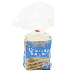 Extra Large - Pain de mie nature - 14 tranches Grandes tranches extra moelleuses