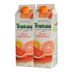 Tropicana Pure Premium Ruby breakfast 2x1l