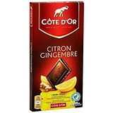 Côte D'Or - Tablette Noir Citron Gingembre 150G