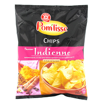 Chips a l'indienne Pom'Liss 135g