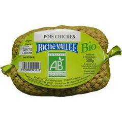 Riche Vallée, Pois chiches BIO, le paquet de 500 g