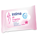 Intima lingettes hygiene intime x20