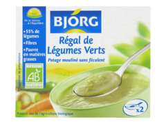 Potage desgydrate Bjorg Regal de legumes verts 500g