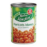 Haricots blancs Notre Jardin Tomate 265g