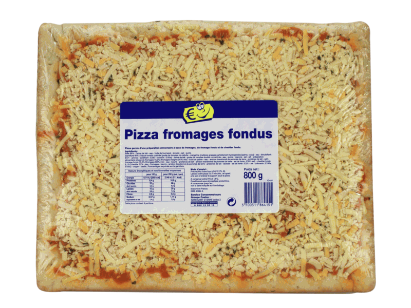 Pizza fromages Fondus