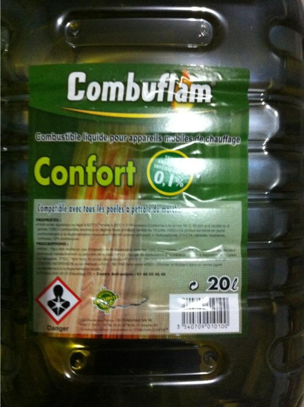 petrole confort combuflam 20l tous les produits chauffage et traitement de l 39 air prixing. Black Bedroom Furniture Sets. Home Design Ideas