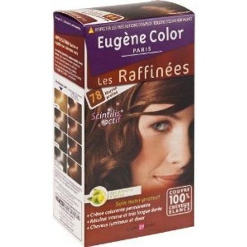Eugene Color, Les Raffines - Creme colorante permanente, extraits d'olive, marron praline, la boite de 115ml