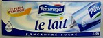 Lait concentre sucre, le tube de 300g