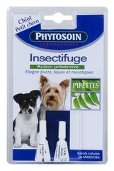 Phytosoin gouttes insectifuges pour petit chien x2