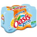 Oasis zero tropical 6x33cl.