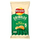 Walkers Crinkles Crisps - Salt & Malt Vinegar (5x28g)