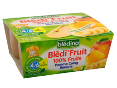 B FRUIT Pommes Coings Bananes 4x100g