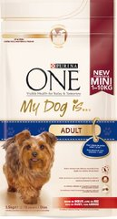 Croquettes chiens Purina One My Dog is Adult 1,5kg
