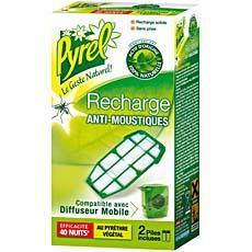 recharge pour diffuseur anti moustiques mobile pyrel 40 nuits tous les produits insecticides. Black Bedroom Furniture Sets. Home Design Ideas