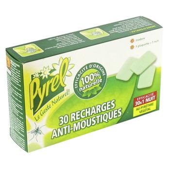 Recharge pour diffuseur l ctrique anti moustique pyrel 30 plaquettes tous les produits - Produit anti moustique pour jardin ...