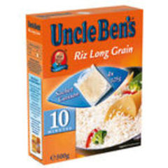 Riz long grain cuisson 10mn UNCLE BEN'S, 4x125g