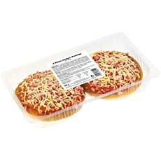 Pizza jambon fromage, 2x140g