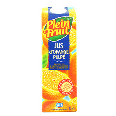 Jus d'orange Plein Fruit Avec pulpe 1l