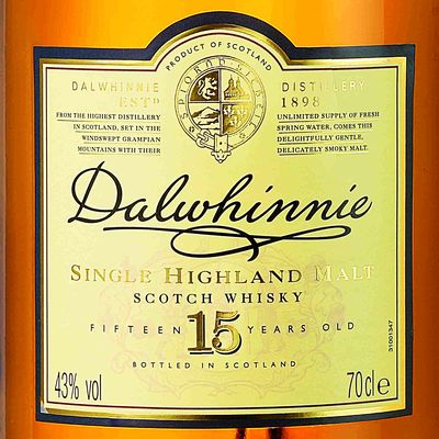 Dalwhinnie 15 ans whisky fine fleur d'Ecosse 43° -70cl