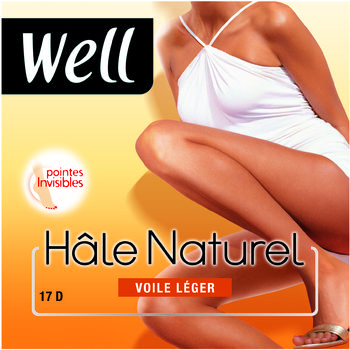 Collant hal� naturel 17D WELL, clair, taille 3
