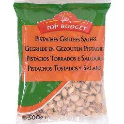 Top Budget, Pistaches grillees salees, le paquet,500g