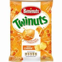 Cacahuetes enrobees gout cheese TWINUTS, 150g