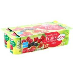 Cora yaourt fruits rouges 8x125g